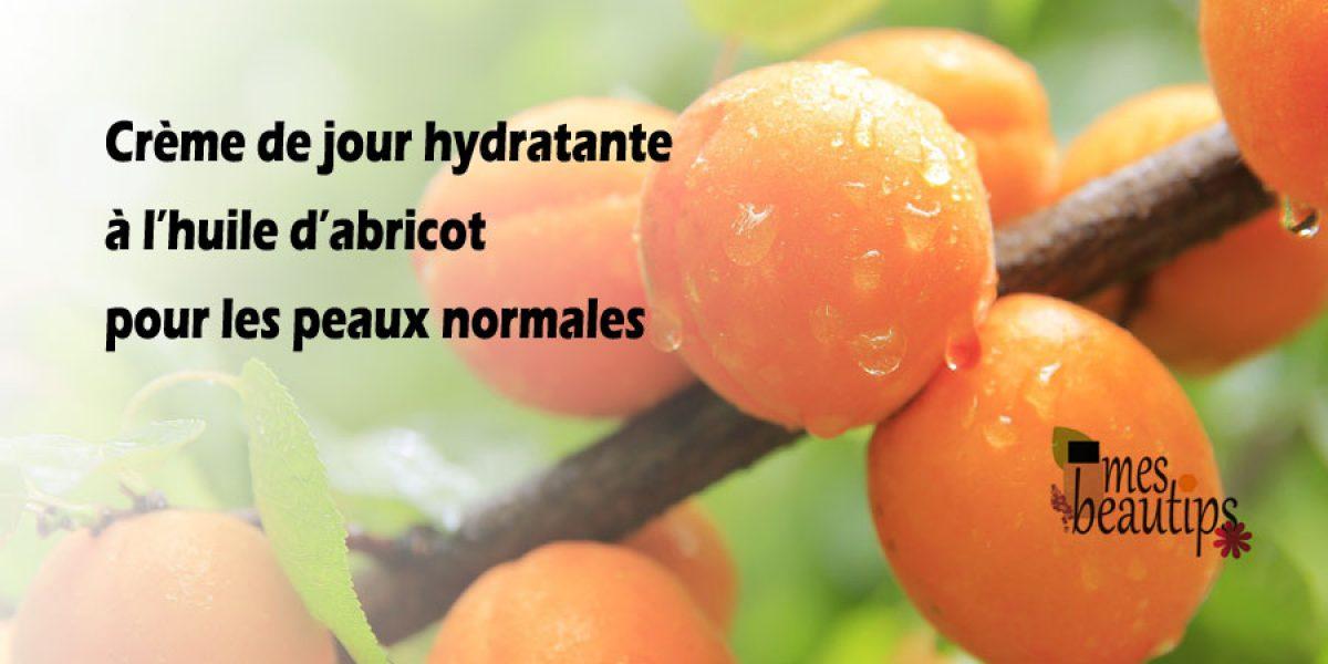 Creme de jour maison hydratante à l'abricot pour peaux normales