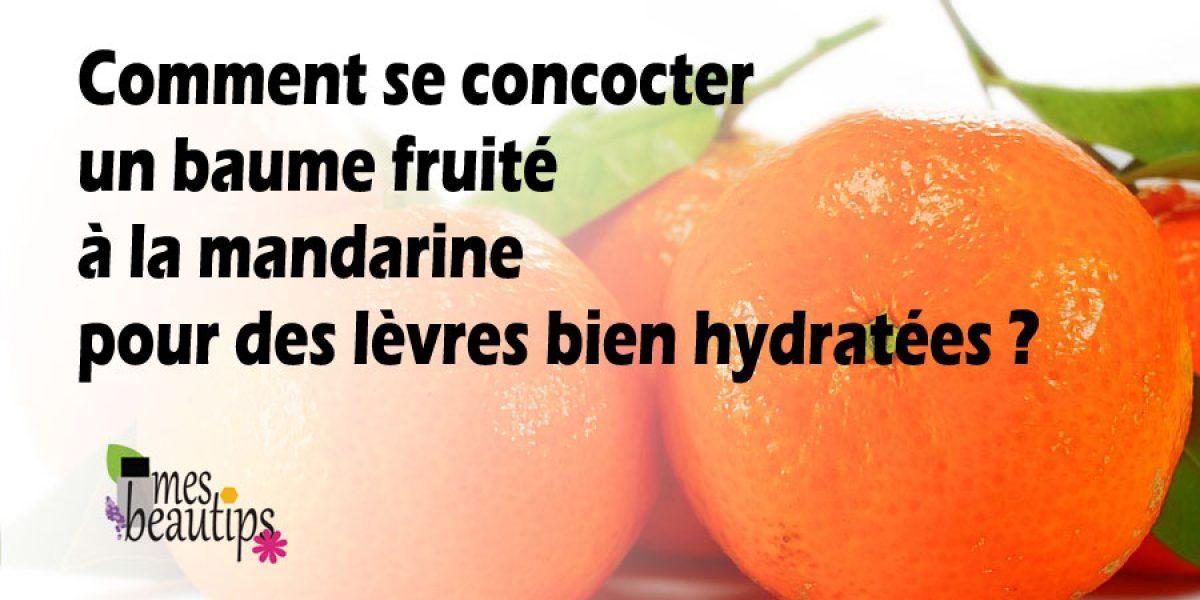Baume à lèvres hydratant à la mandarine