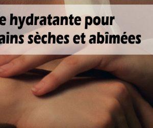 Crème hydratante, réparatrice pour les mains sèches et abîmées