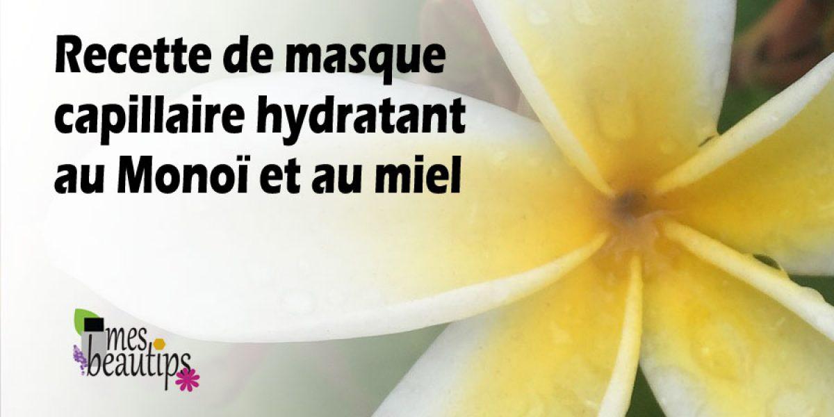 Masque capillaire hydratant au Monoï et au miel