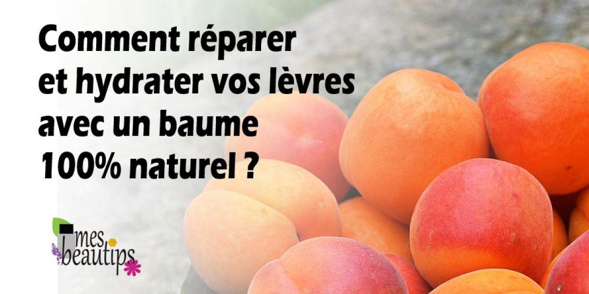 Baume à lèvres à l'abricot