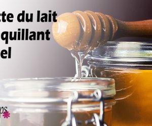 Démaquillant maison, hydratant, au lait et au miel
